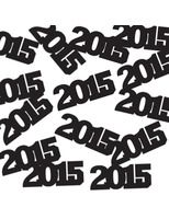 New Years Decorations 2015 Black Metallic Confetti Image