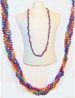 Cinco de Mayo Party Wear Rainbow Twist Bead Necklace Image
