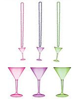 New Years Party Wear Assorted Martini Glass Bead Necklace Image