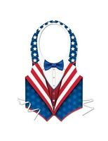 4th of July Party Wear Patriotic Plastic Vest Image