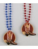 Western Party Wear Cowboy Boot Bead Necklace Image