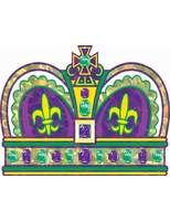 Mardi Gras Decorations Mardi Gras Crown Cutout Image