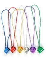 Cinco de Mayo Party Wear Beer Mug Beaded Necklace Image