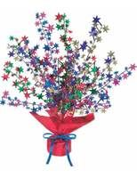 New Years Decorations Multicolor Starburst Centerpiece Image