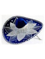 Cinco de Mayo Hats & Headwear Royal Blue and White Mariachi Sombrero Image