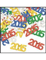 New Years Decorations 2015 Metallic Confetti Image