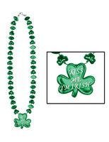 """St. Patrick's Day Party Wear """"Kiss Me, I'm Irish"""" Necklace Image"""