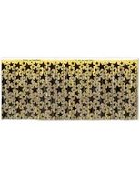 New Years Table Accessories Black and Gold Star Fringe Skirt Image