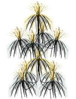 New Years Decorations Black and Gold Firework Chandelier Image