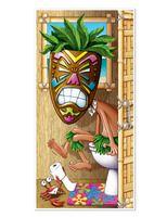 Luau Decorations Tiki Man Restroom Door Cover Image