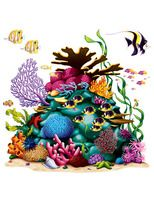 Luau Decorations Coral Reef Prop Image