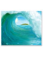 Luau Decorations Surf Wave Backdrop Image