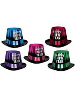 New Years Hats & Headwear Assorted Color Entertainer Top Hat Image