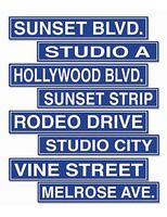 Awards Night & Hollywood Decorations Hollywood Street Sign Cutouts Image