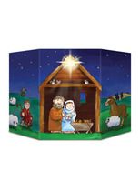 Christmas Decorations Nativity Scene Stand Up Image