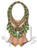 Mardi Gras Party Wear Mardi Gras Plastic Vest Image