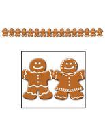 Christmas Decorations Gingerbread Man Streamer Image