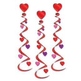 Valentine's Day Decorations Heart Whirls Image