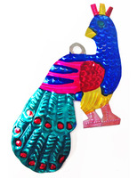 Decorations Peacock Tin Ornament Image