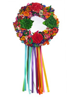 Cinco de Mayo Decorations Flower Cornhusk Wreath Image