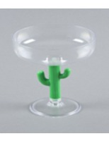 Cinco de Mayo Table Accessories Cactus Margarita Glass Image