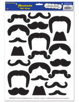 Western Decorations Mustache Wall Clings Image