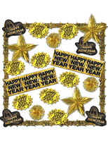 New Years Decorations Gold New Year's Decorating Kit Image