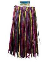 Luau Party Wear XL Multicolor Raffia Hula Skirt Image