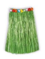 Luau Party Wear Adult Green Flowered Hula Skirt Image