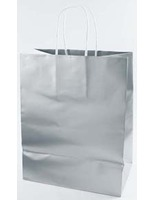 Gift Bags & Paper Medium Gift Bag Silver Image