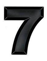 "Decorations Black Plastic Number ""7"" Image"