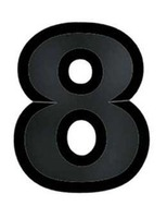 "Decorations Black Plastic Number ""8"" Image"