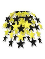 New Years Decorations Black and Gold Star Cascade Image