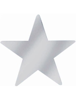 "New Years Decorations 5"" Silver Foil Star Image"