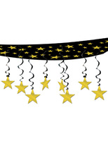 New Years Decorations Gold Stars Are Out Ceiling Decor Image