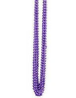 Mardi Gras Party Wear Purple Metallic Bead Necklaces Image