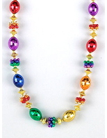 New Years Party Wear Rainbow Oval and Cluster Beads Necklace Image