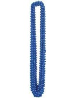 4th of July Party Wear Blue Metallic Bead Necklaces Image