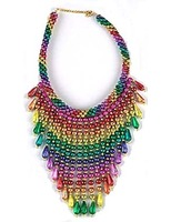 Cinco de Mayo Party Wear Rainbow Bead Choker Image