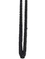 New Years Party Wear Black Metallic Bead Necklaces Image