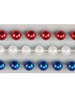 4th of July Party Wear Red, White, and Blue Bead Necklaces Image