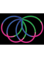 "New Years Glow Lights 22"" Tri-Color Glow Necklaces Image"