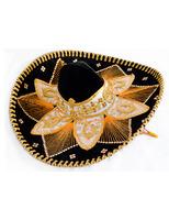 Cinco de Mayo Hats & Headwear Black and Gold Mariachi Sombrero Image