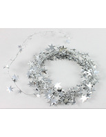 New Years Decorations Silver Star Wire Garland Image