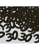 "Birthday Party Decorations ""30"" Confetti Black Image"