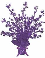 Mardi Gras Decorations Purple Starburst Centerpiece Image