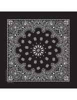 Western Party Wear Deluxe Black Bandana Image