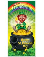 St. Patrick's Day Decorations Leprechaun Door Cover Image