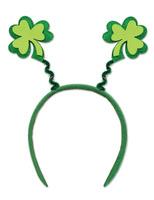St. Patrick's Day Party Wear Glittered Shamrock Bopper Image