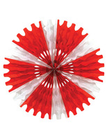 Valentine's Day Decorations Red and White Tissue Fan Image